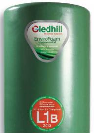 Gledhill domestic copper hot water cylinders - Envirofoam