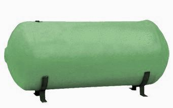 Horizontal hot water cylinder with cradles