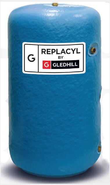 Gledhill ReplaCyl stainless steel indirect hot water cylinders. Ideal replacement for existing copper hot water cylinders.