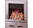 Valor Seattle inset pebble effect gas fire with silver surround