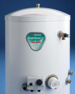 Stainless Lite Heat Pump cylinder for unvented hot water