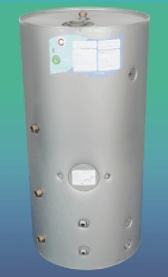Solar Cylinder - The Gledhill Sunspeed 1 and Sunspeed 2 gravity hot water cylinders with solar input