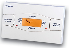 Drayton Lifestyle heating programmer for landlords with service interval timer